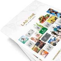 Advertising folder with product catalog
